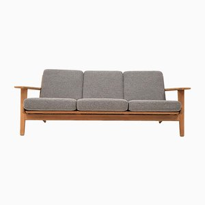 Danish GE290 Oak 3-Seat Sofa by Hans J. Wegner for Getama, 1960s