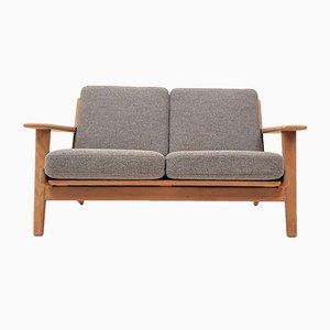 Modell GE 290/2 2-Sitzer Sofa mit Gestell aus Eiche von Hans J. Wegner für Getama, 1960er