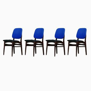 Vintage Danish Mahogany Chairs, 1960s, Set of 4