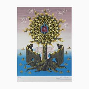 Litografia Tree of Life vintage di Jean Picart Le Doux