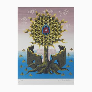 VIntage Tree of Life Lithograph by Jean Picart Le Doux