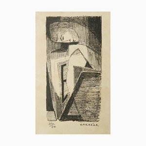 Mid-Century Lithograph by Nicolas Carrega, 1950s