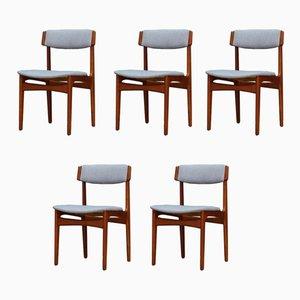 Vintage Esszimmerstühle aus Teak von N. & K. Bundgaard Rasmussen für T.S.M. Manufactory, 1960er, 5er Set