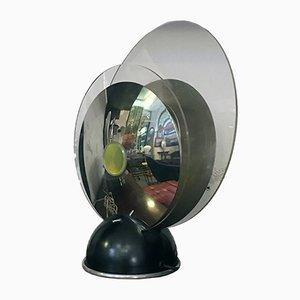 Tischlampe aus Stahl, Eisen & Plexiglas, 1970er