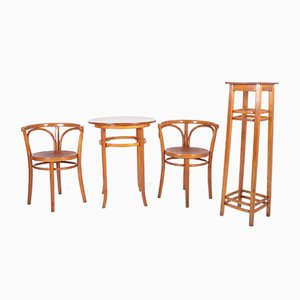 Vintage Dining Set from Thonet, 1930s, Set of 4