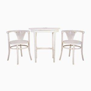 Juego de mesa y sillas vintage de Thonet, años 60