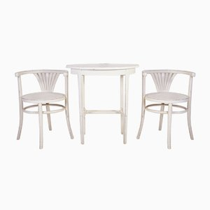 Tavolo da pranzo vintage con sedie di Thonet, anni '60