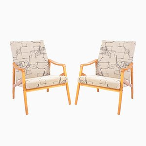 Vintage Armchairs from Wiberg-Rousinov, 1960s, Set of 2