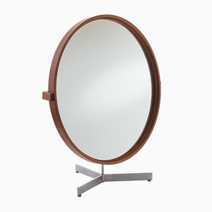 Large Scandinaivian Modern Teak Table Mirror by Uno & Östen Kristiansson for Luxus, 1960s