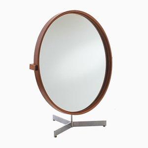 Specchio da tavolo grande moderno in teak di Uno & Östen Kristiansson per Luxus, Scandinavia, anni '60
