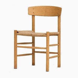 Silla de comedor modelo J39 danesa vintage de Borge Mogensen para FDB Furniture, años 60