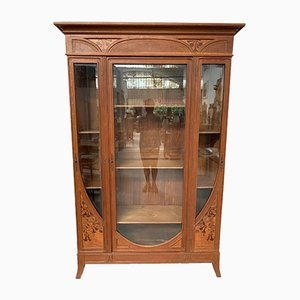 Antique Art Nouveau Bookcase by Auguste Metge