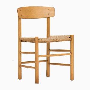 Sedia da pranzo J39 vintage di Borge Mogensen per FDB Furniture, Danimarca, anni '50