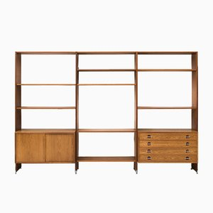 Mid-Century RY 100 Wall Unit by Hans J. Wegner for Ry Møbler, 1950s
