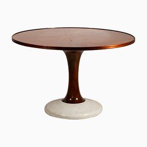 Mesa de comedor de madera y mármol de Paolo Buffa, años 60