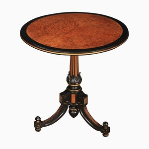 Ebony & Amboyna Inlaid Occasional Table, 1880s