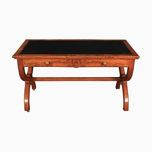 Antique Victorian Walnut Writing Table, 1880s
