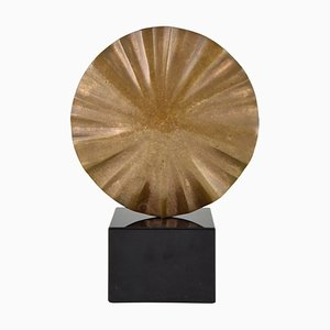 Mid-Century Abstract Bronze Sculpture by Claudio Capotondi, 1970s