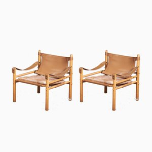 Sirocco Safari Chairs by Arne Norell for Aneby Mobler, 1960s, Set of 2