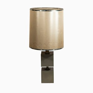 French Metal Table Lamp by Michel Boyer, 1970s
