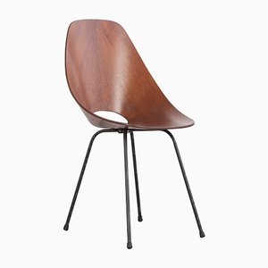 Italienische Medea Stühle aus Schichtholz von Vittorio Nobili für Fratelli Tagliabue, 1950er, 6er Set