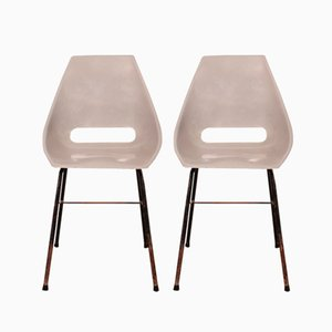 Shell Chairs by Miroslav Navratil for Vertex, 1960s, Set of 2