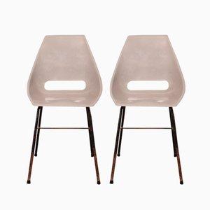 Shell Stühle von Miroslav Navratil für Vertex, 1960er, 2er Set
