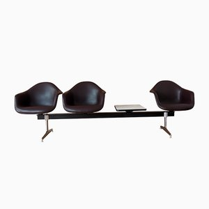 Vintage Tandem Shell Seating Bench by Charles & Ray Eames for Herman Miller, 1960s