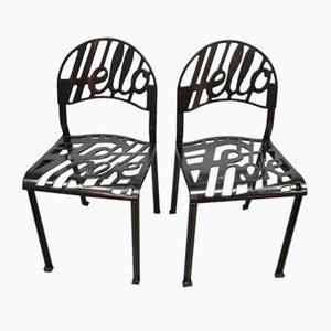 Chaises de Salle à Manger Hello There Vintage par Jeremy Harvey pour Artifort, 1970s, Set de 4
