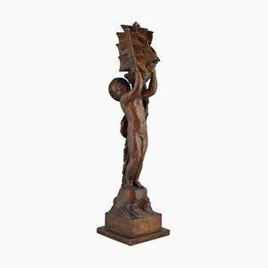 Scultura Art Déco in bronzo di Henri Raphael Moncassin per Susse Freres, anni '20
