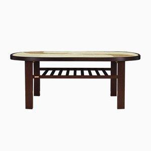 Dänischer Vintage Tisch aus Buche & Keramik von Gangso, 1960er