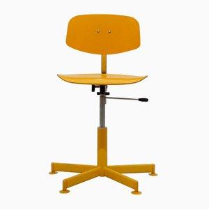 Silla de escritorio regulable vintage, años 70