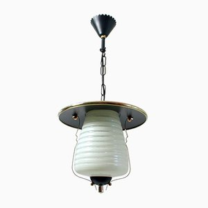 Lámpara o farol colgante italiana Mid-Century, años 50