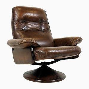 Chaise Inclinable en Cuir, 1970s