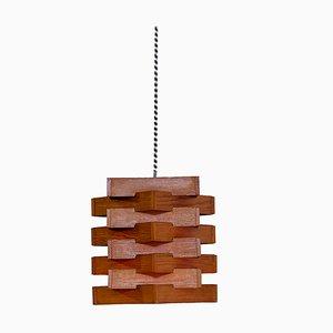 Lámpara de techo de chapa de pino, años 60