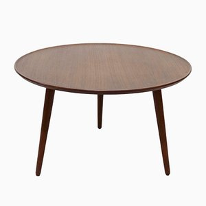 Mid-Century Round Teak Coffee Table, 1960s