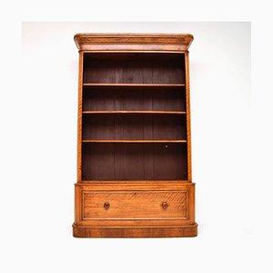 Librería victoriana antigua de madero de indias
