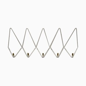 Vintage White Metal Coat Rack, 1950s