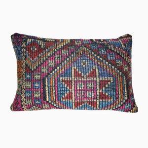 Funda para almohada de lana kilim con motivos geométricos de Vintage Pillow Store Contemporary
