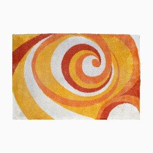 Großer Spiral Vintage Teppich, 1970er