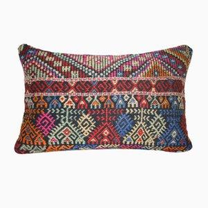 Funda de almohada turca de kilim con estampado de cenefas de Vintage Pillow Store Contemporary