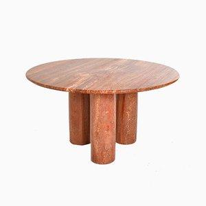 Modell Colonnade Tisch aus rotem Travertin von Mario Bellini für Cassina, 1970er