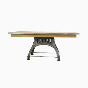 Antique English Industrial Table from Bamford