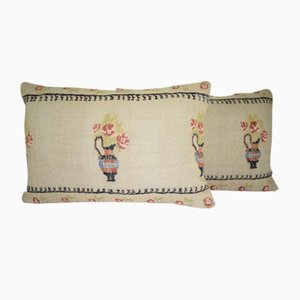 Fundas para almohadas lumbares de Vintage Pillow Store Contemporary. Juego de 2