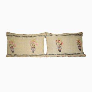 Fundas para almohadas lumbares turcas de Vintage Pillow Store Contemporary. Juego de 2
