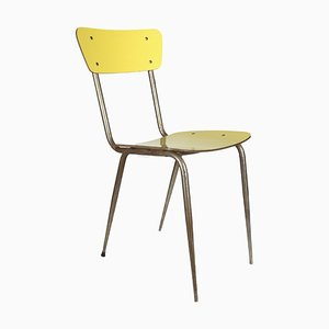 Yellow Metal Side Chair from Domus Nova Poggibonsi, 1950s