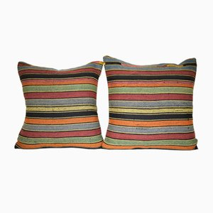 Turkish Striped Kilim Pillow Covers from Vintage Pillow Store Contemporary, Set of 2
