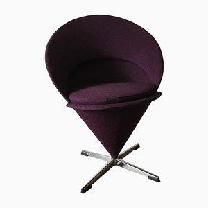 Violetter Cone Chair von Verner Panton für Frem Røjle, 1960er