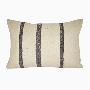 Anatolian Handmade Striped Lumbar Pillow Cover from Vintage Pillow Store Contemporary