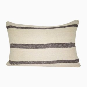 Turkish Hand-Made Lumbar Kilim Pillow Cover from Vintage Pillow Store Contemporary